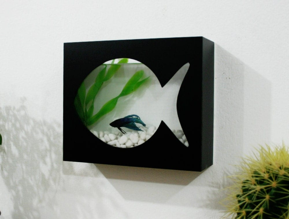 Fish Tank Wall Mounted Modern Betta Fish Tank Aquarium Desktop Aquarium Or Wall
