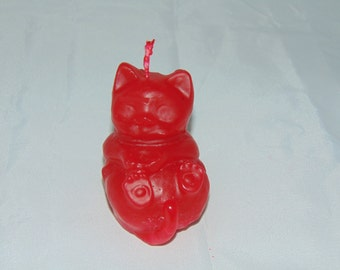 Cat Candle Scented with Rose