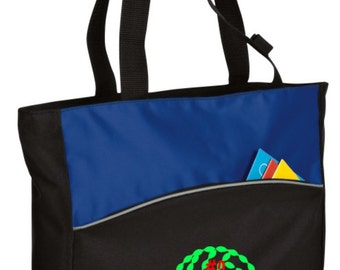 Personalized Tote Bag Embroidered Tote Bag Custom Tote Bag - Sports - Volleyball 2 - B1510