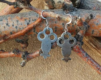 Vintage Skeleton Key Earrings