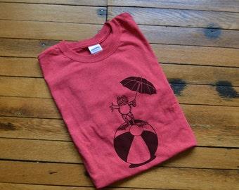 Customizable Frog on a Beachball Holding an Umbrella T-Shirt