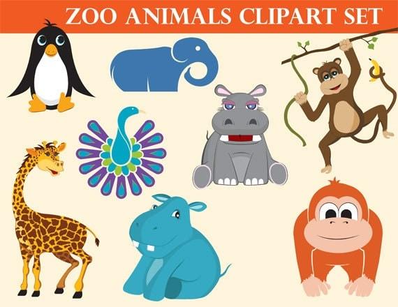 Zoo Animals Nursery Clipart Commercial Use Safari Clipart
