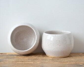 Winter Mug Duo - Stoneware and white glaze