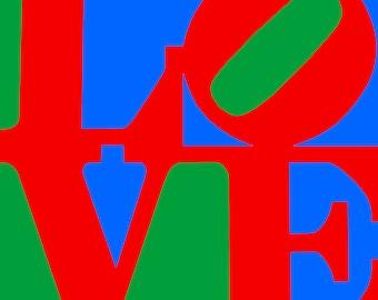 Love Pop Art Canvas Print 30x30