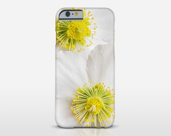 White Flowers Phone Cover, Floral Photography, Flower Case, iPhone Case, iPhone 6S, iPhone 6 Plus, Mobile Case