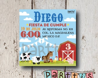 Printable farm party invitation