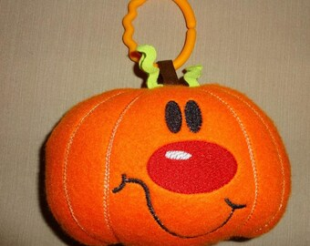 Baby fleece pumpkin softie toy