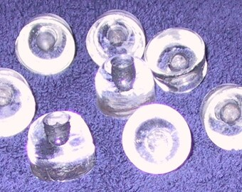 lot of 8 vintage tiny glass drawer pulls