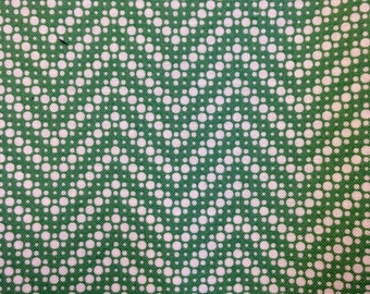 Green  Dotted Chevron From Fresh Air CollectionDesigned by Sand Klop of American Jane for Moda Item and Color 21676 12 Half Yard Cut