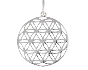 Flower of Life Silver Pendant Necklace CLT008