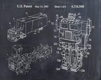 Transformer Robot Patent Print