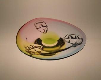 Czech Bohemian Art Glass Bowl