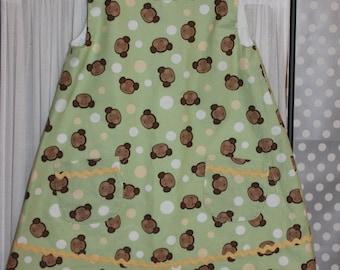 Monkey Dress for Little Girls, Size 18 month