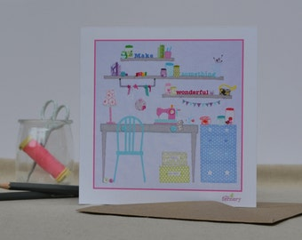 Fine Art Card 'The Work Room'