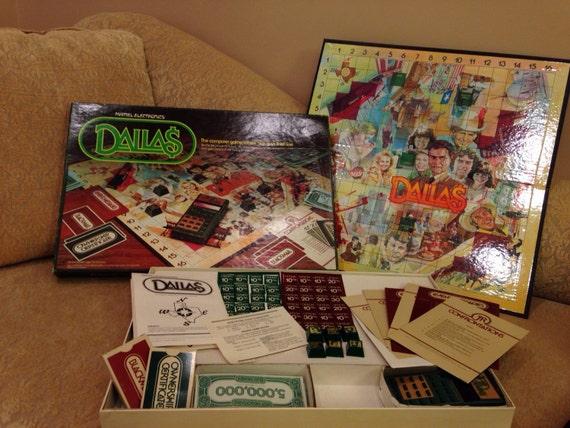 rare vintage mattel electronics dallas tv show board game jr. Black Bedroom Furniture Sets. Home Design Ideas