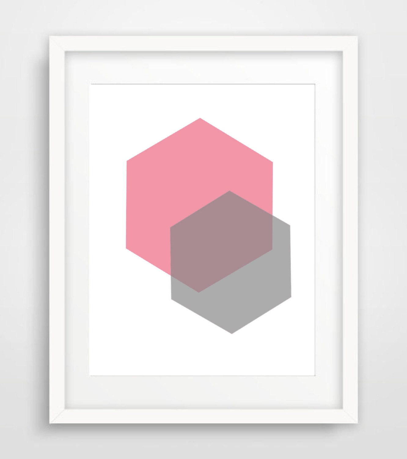 Geometric wall art blush nursery art print digital printable for Minimalist wall