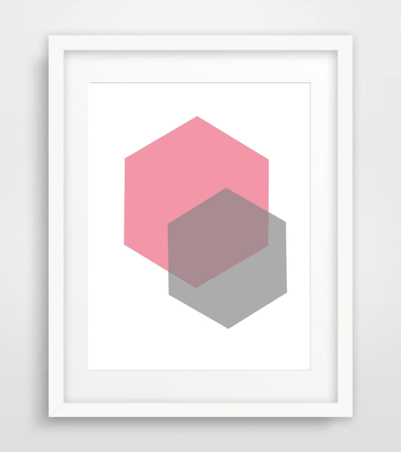 Geometric wall art blush nursery art print digital printable for Minimalist wall decor ideas