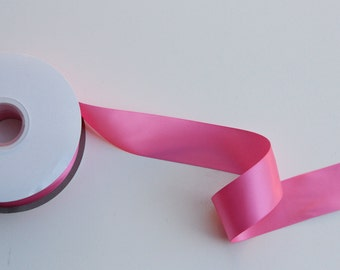 5 yards Hot Pink Double Faced satin Ribbon 5/8 inches - Hot Pink satin ribbon - Hot Pink satin ribbon