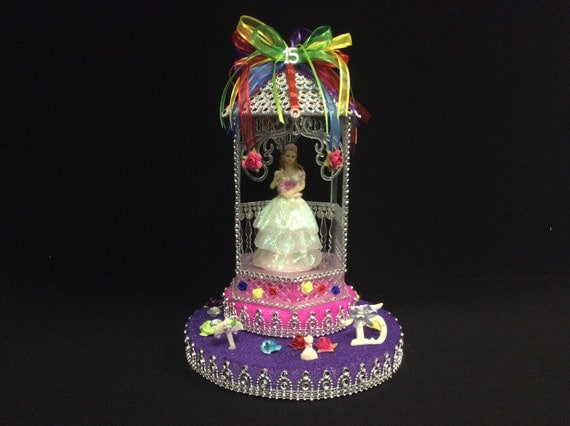 quinceanera cake topper items similar to quinceanera cake topper table decoration 6935