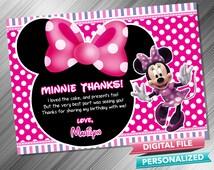 Minnie Thank you card