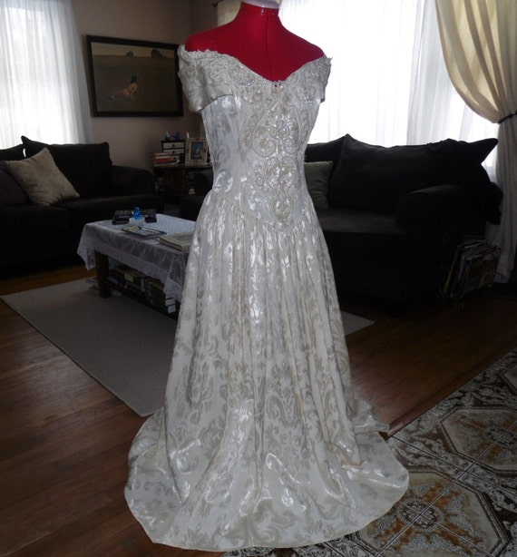 Vintage jessica mcclintock bridal gown size by for Jessica mcclintock wedding dresses outlet