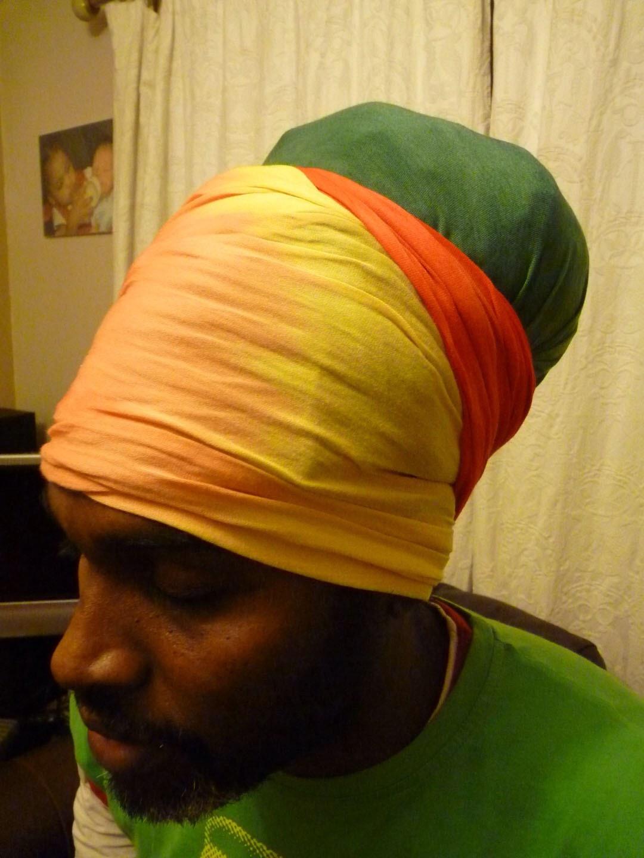 Rasta tulband nyabinghi rood goud en groen tie door royalrastawear