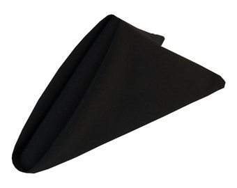 Black Napkins 20 x 20 inches 6-pack | Wholesale Black Cloth Napkins for Weddings, Hotels and Restaurants