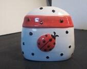 Ladybug Napkin holder,Home Decor,Vintage Kitchen,Castawayacres