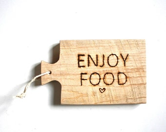 Wooden engraved cutting board ENJOY FOOD