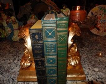 GOLD LEAF BOOKENDS