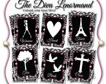 The Diva Lenormand Deck Poker Size