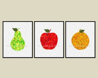 Kitchen Dining Wall Art - Fruit - Modern with Table Manners