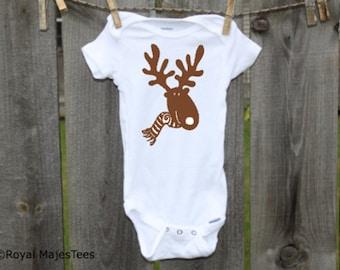 Christmas Moose Onesies®, Baby's 1st Christmas, Winter, Toddler, kids