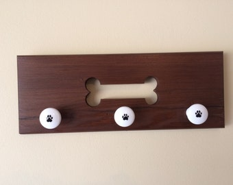 Wooden Wall Rack with Dog Bone Cut Out - Flat Rate Shipping 5.00!!