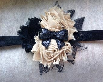 Black and Cream Dream Girls Headband