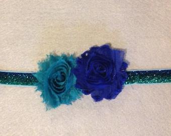 Blue/Green Ombre Girls Headband