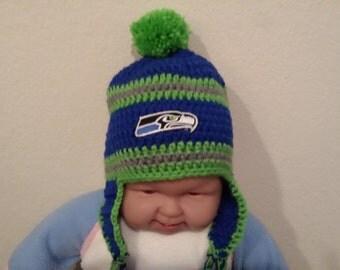 Crochet Seattle Seahwks hat