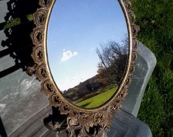 Super grand old mirror bronze swing psyche LOUIS XV style 19 th