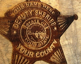 Deputy's Prayer- Laser engraved and personalized with your information.