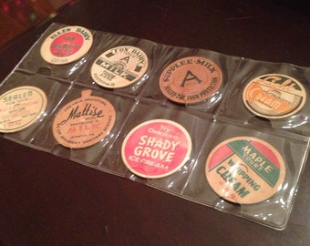 Vintage Milk Bottle Caps (8)