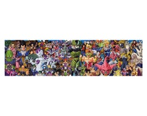 Dragon Ball Z Characters Art Anime Manga Panoramic Panorama Print Poster, 49.6'' / 126 cm