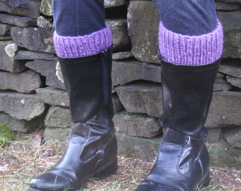 Made to Fit Plus Size Boot Cuffs- Large Boot Toppers- Womens Boot Cuffs XL- Knitted Boot Cuffs- Faux Leg Warmers- Boot Socks Plus