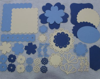 Blue Photo Mats, Scrapbook Die Cuts, Paper Die Cuts, Die Cut Shapes, Die Cuts, Scrapbook Shapes, Scrapbook Supplies, Photo Mats, Scrapbooks