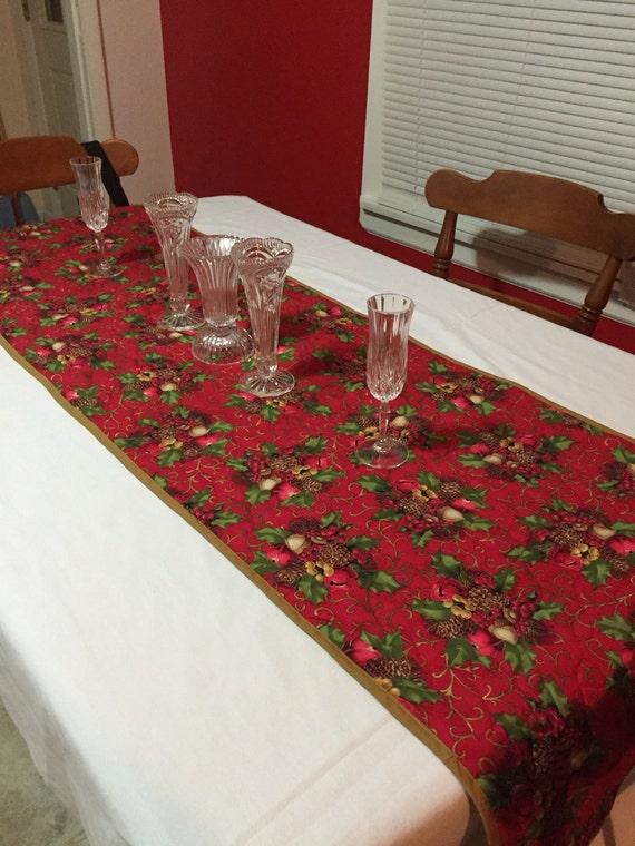 Items similar to holiday red table runner bed runner for 120 table runner christmas
