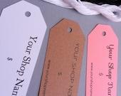 25 Custom Tags, Custom Clothing Tags, Custom Price Tags