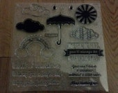 CTMH Rainbow,  Clouds and Sunshine Stamps- Ships Free