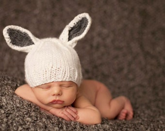 Bunny Hat Newborn Knit Bunny Hat