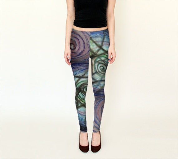 Colorful Trippy Leggings - Spinning for festivals, yoga, EDM, fitness, dance and more