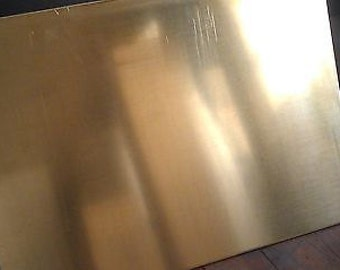 Brass Sheet .032 Thick