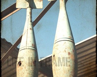 Vintage War Ammunition, Vintage Military Explosives, Color Photography